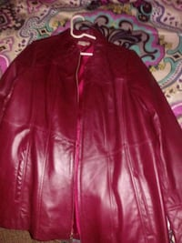 red leather zip-up jacket Fitchburg, 01420