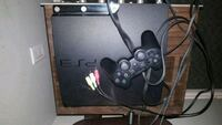 black Sony PS3 Slim with two controllers Surrey, V3S