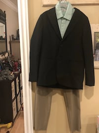 Boys size 12 suit jacket, dress pants and free shirt. Excellent condition located in Murray Murray, 84123