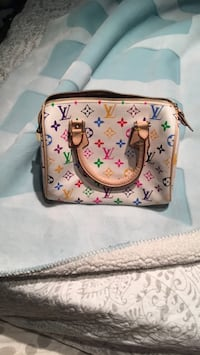 white and pink leather Louis Vuitton handbag Richmond Hill, L4C 0B4