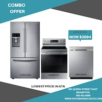 combo offer lowest price in gta brand new samsung 3pc package on sale  Brampton