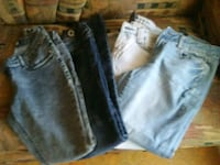 two blue and black denim jeans Belleview, 34420