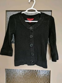 Black cardigan sweater 3/4 sleeve size xs/small