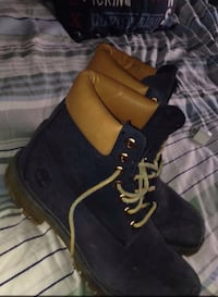 black-and-brown Timberland work boots Bedford, B4A