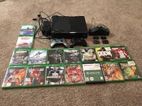 black Xbox One console....2 controllers.... controller adapter.... games included.... also black ops 3, Gears of war 1-4 are installed in the game database... Phoenix, 85308
