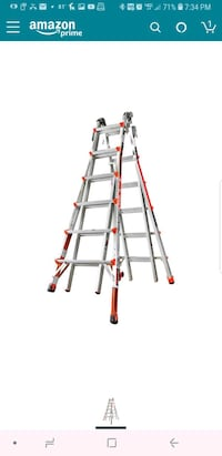 gray and red Werner A-frame ladder Groveport, 43125