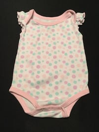 white and pink cap sleeve onesie Purcellville, 20132