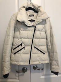 Danier Down Filled White Leather Jacket Vaughan