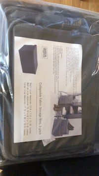 Storage Bins. Collapsible Fabric ( 3-pack) Brand New  Las Vegas, 89147