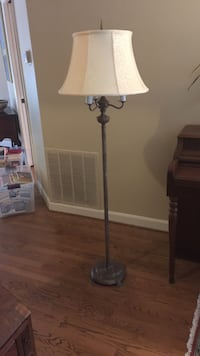 Gray metal floor lamp with shade Alexandria, 22304