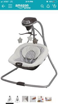 baby's gray and white cradle n swing Phoenix, 85040
