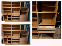 white wooden TV hutch with shelf St. Catharines, L2N 1Y2