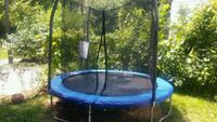 blue and black trampoline with enclosure New Albany, 47150