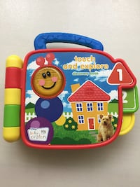 Baby Einstein Touch and Explore Discovery Book EN/ES/FR