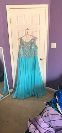 Sky blue size 18 prom dress