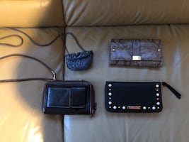 Purses -wallet that holds phone with free delivery.   $5-$25