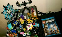 assorted plastic toy collection with box Austin