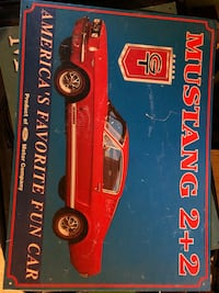 Mustang vintage tin picture Wyoming, 49418