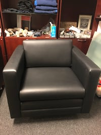 Black leather club chair Houston, 77022