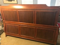 King size wooden bed minor wear from use headboard footboard sideboards and supports all included and in good shape