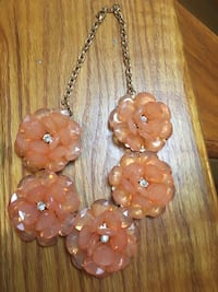 Peach/Coral Statement Necklace