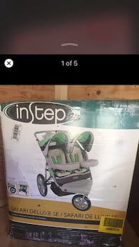 Instep safari deluxe double stroller jogger  Brand new never assembled. NEW IN BOX $350++ retail Hamilton, L8M 2B5