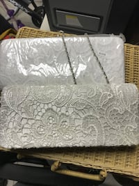 White lace hand clutch Londonderry, 03053