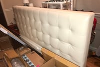 Spotless White / Cream Leather Long Headboard Bethesda, 20817