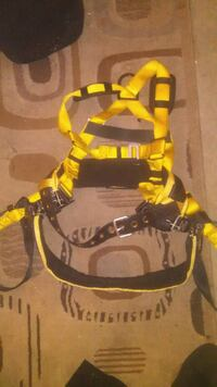 yellow and black hiking backpack