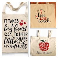 Personalize Teacher Valentines Totes  Toronto, M3B