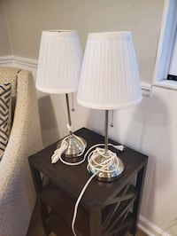 Two IKEA ARSTID Table lamps with LED bulbs Ellicott City, 21042