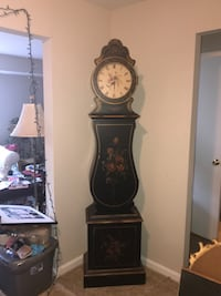 Black and red wooden grandfather clock Rockville, 20850