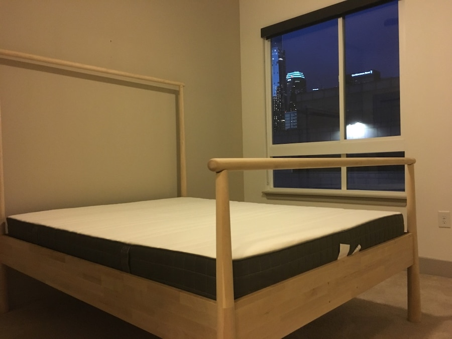 Used Ikea gjora queen bed frame and mattress in Los Angeles