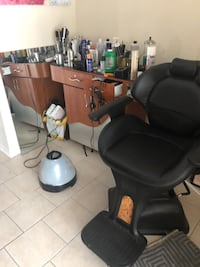 black leather padded rolling chair Beltsville, 20705