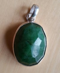 silver-colored pendant with green stone Toronto, M1V 2B5