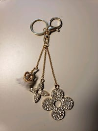 "7"" Goldtone Fur/Rhinestone Fashion Keychain Woodbridge, 22193"