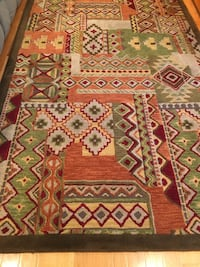 red, white, and green floral area rug Springfield, 22153