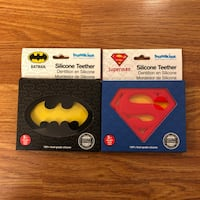 New Batman & Superman baby teethers by Bumkins - $27 retail value Vancouver, V5V