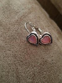 Silver with pink heart earrings from TSC Omaha, 68137