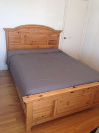 Queen wood bed frame and Armoire  Miami Beach