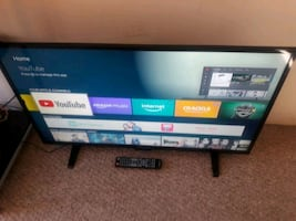 40 inch tv with remote