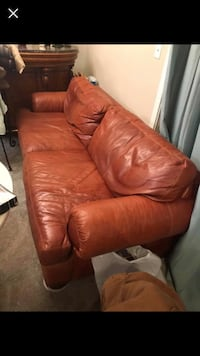 brown leather 3-seat sofa Laurel, 20724