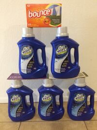 Oxiclean (60oz)/bounce $25 For All (6) items Firm  Phoenix, 85023
