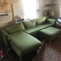 Green ikea couch & ottoman Los Angeles, 90004