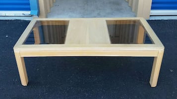Coffee Table With Glass Panels