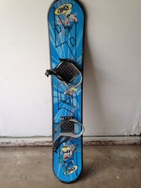 blue and black DBX snowboard Stow, 44224