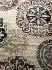gray and black floral area rug Toronto, M9W 4M1