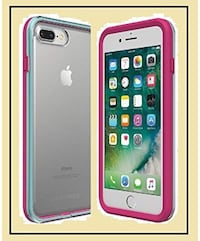 Lifeproof Slam case for iPhone 6, 6s or 7.  Used for 5 days and daughter changes her mind.  Hot pink and turquoise edges, see-through on the back. LIKE NEW! Los Angeles, 91367