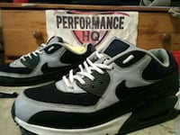 pair of black-and-white Nike Air Max San Antonio, 78211