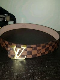 brown and black Louis Vuitton leather belt London, N6K 2K8
